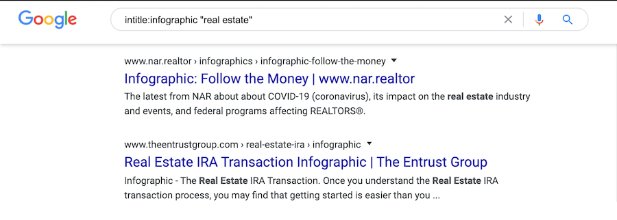 real estate infographic search