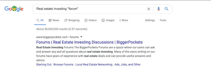 real estate investing forum