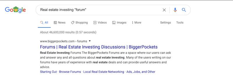 real estate investing forum