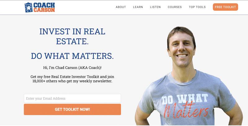 coach carson blog for real estate investors
