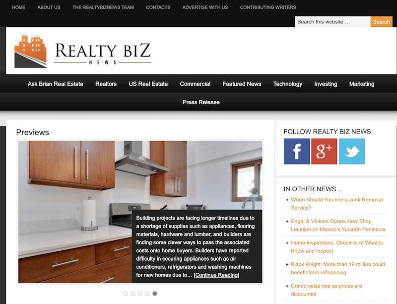 Realty Biz News blog for real estate investors